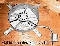 use powered attic ventilation to improve natural ventilation