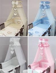 Cot Bumper Sets Luxury 8 Piece Cot Bedding Set Baby Canopy Bumper Fits Cot Bed
