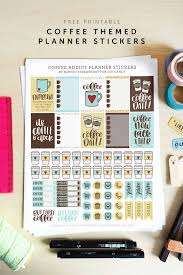 coffee planner stickers printable coffee themed printable planner stickers diy candy
