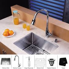 Sink Kitchen Faucet Stainless Steel Kitchen Sink Combination Kraususa Com