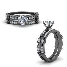 black gold wedding sets black gold engagement rings fascinating diamonds