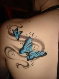 collection of 25 3d butterfly insect on back shoulder