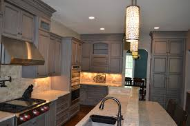 gray stained cabinets with black glaze richmond by elite