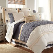 Blue And White Comforters Amazon Com Lyra 8 Piece Comforter Set White Blue Queen Home