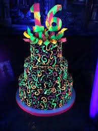 glow in the dark cake this cake glows under a blacklight we