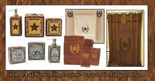 Western Bathroom Accessories Rustic - western bathroom decor art collection from tribal and western