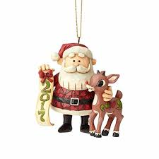 Jim Shore Christmas Ornaments 12 Days by Enesco Rudolph Traditions By Jim Shore Dated 2017 Rudolph Santa