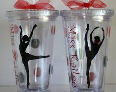 personalized tumblers are a great gift for your dancer and
