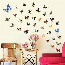 ceramic butterflies wall decor promotion shop for promotional 80pcs butterfly wall sticker decals vinyl art bedroom ceramic tiles pvc colorful design diy room home window decor
