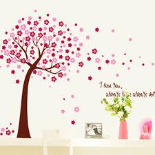 popular cherry family tree buy cheap cherry family tree lots from hot sale romantic family cherry blossom peach tree wall stickers for kids room living room wall