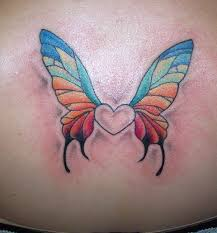 butterfly heart tattoo picture