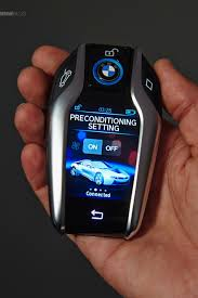 Bmw I8 Options - bmw introduces the key fob with touchscreen display