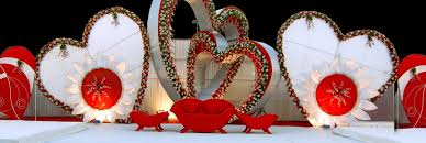Valentines Day Stage Decor by Event Management Stage Setup Company In Delhi Stage Production