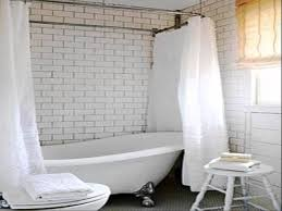 Bathroom Shower Curtain Rod Shower Curtain Rods For Claw Foot Tubs Shower Curtains Design