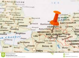 Where Is Belgium On The Map Of Europe by Belgium And Bruxelles Map Pin Stock Image Image 35275591