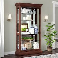 rooms to go curio cabinets darby home co nancy eden lighted curio cabinet reviews wayfair