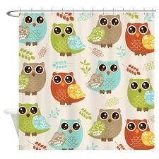 Owl Shower Curtains Fall Shower Curtains U2013 Teawing Co