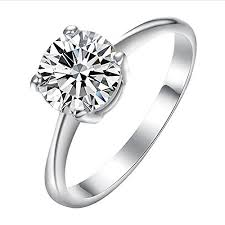 gold promise rings yoursfs promise rings for women18k white gold plated wedding cz