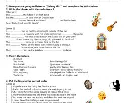 ed sheeran biography pdf worksheet galway girl by ed sheeran