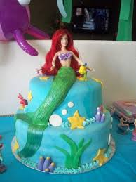 ariel little mermaid birthday cake cakecentral com
