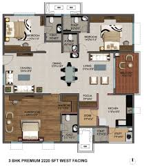3 Bhk Apartment Floor Plan by Tower 1 Details Of 2 Bhk Flats Marina Skies Kukatpally