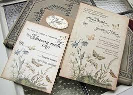 Rustic Wedding Invitations Cheap Vintage Wedding Invitations Rectangle Potrait Cream Black