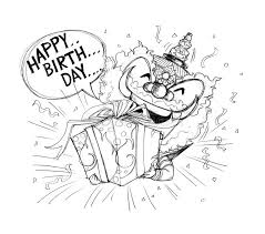 siam gumphant thai giant cartoon happy birthday stock illustration