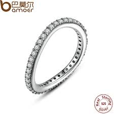 Sterling Silver Wedding Rings by Aliexpress Com Buy Bamoer New 925 Sterling Silver Rings For