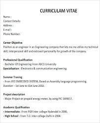 Resume Samples For Freshers Engineers by 28 Free Fresher Resume Templates Free U0026 Premium Templates