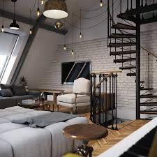 loft apartment design jurnal de design interior amenajare masculină într un loft de 70