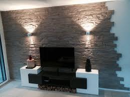 steinwand wohnzimmer tv haus renovierung mit modernem innenarchitektur tolles steinwand