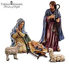 kinkade indoor outdoor nativity set magnificent holy