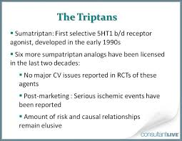 whats a cv triptans and ergotamines what s the cv risk patient care