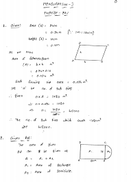 mensuration i area of a trapezium and a polygon rd sharma solutions