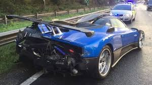pagani exhaust one off 2 million pagani zonda crashes in england the drive