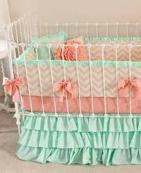 mint sorbet chevron nursery bedding lottie da baby