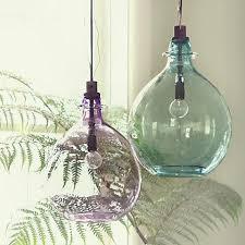 vintage glass pendant light aqua glass pendant light pertaining to current home way trend light