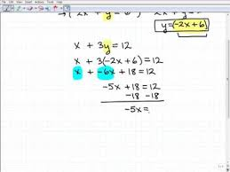 solving linear systems substitution method youtube