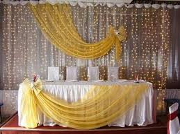 wedding backdrop chagne the way the sheer is draped and change the color vintage