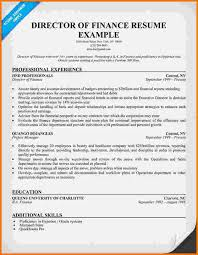 Director Of Finance Resume Examples by 10 Finance Resume Examples Financial Statement Form