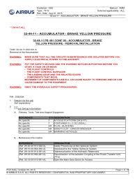 airbus a320 brake accu pnc leak aircraft flight control system