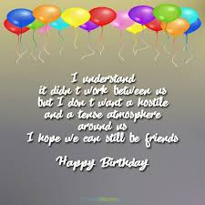 the unforgettable happy birthday cards birthday wishes for ex boyfriend occasions messages