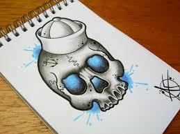 sailor skull flash design by frosttattoo on deviantart