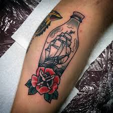 old ship in a bottle tattoo pictures to pin on pinterest tattooskid