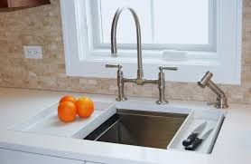 bathroom rectangle kohler sinks plus bridge faucet for kitchen