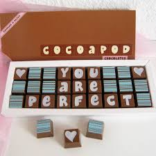 personalised chocolates in medium box personalised chocolate