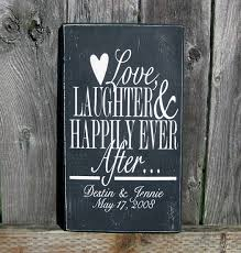 personalization wedding gifts personalized wedding date sign laughter by saidinstoneonline