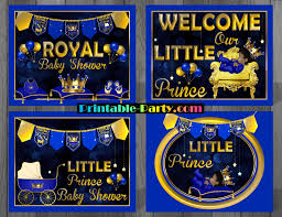 prince themed baby shower decorations royal prince baby shower decorations printable boy baby shower