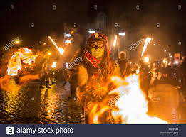 edinburgh uk 1st nov 2016 samhain march in the center of stock