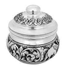 collections 925 silver box with antique finishing grt